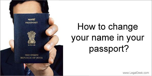 change name on passport
