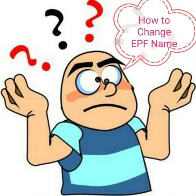 how to change name EPF